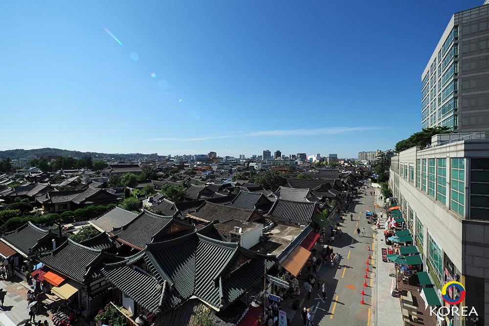 หมู่บ้านโบราณจอนจู ( Jeonju Hanok Village ) จุดชมวิว จอนจู