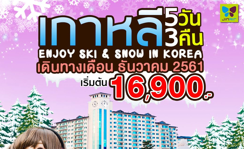 ทัวร์เกาหลี Enjoy Ski&Snow in Korea (ธ.ค.61)