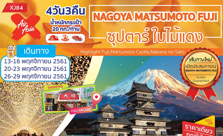 Nagoya Matsumoto Fuji ซุปตาร์ ใบไม้แดง (พ.ย.61)
