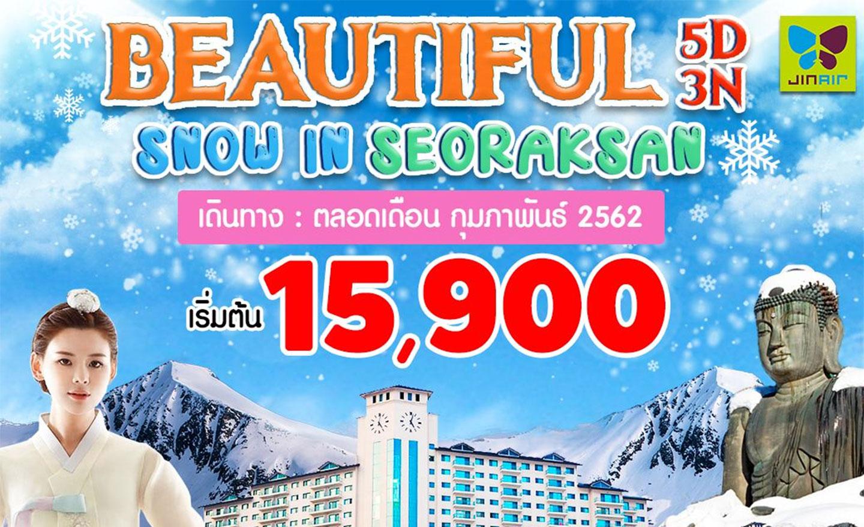 ทัวร์เกาหลี Beautiful Snow in Seoraksan (ก.พ.62)
