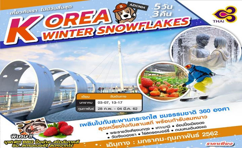 ทัวร์เกาหลี Korea Winter Snowflakes (ม.ค.-ก.พ.62)