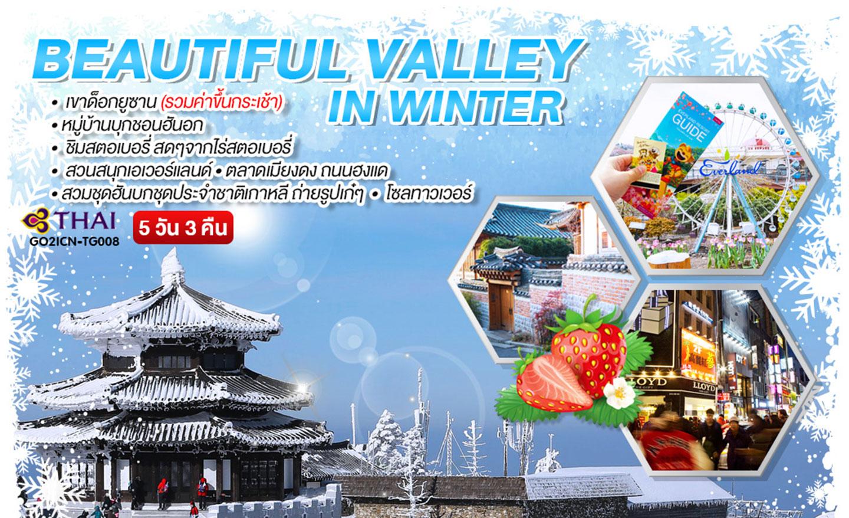 ทัวร์เกาหลี Beautiful Valley in winter (ก.พ.62)