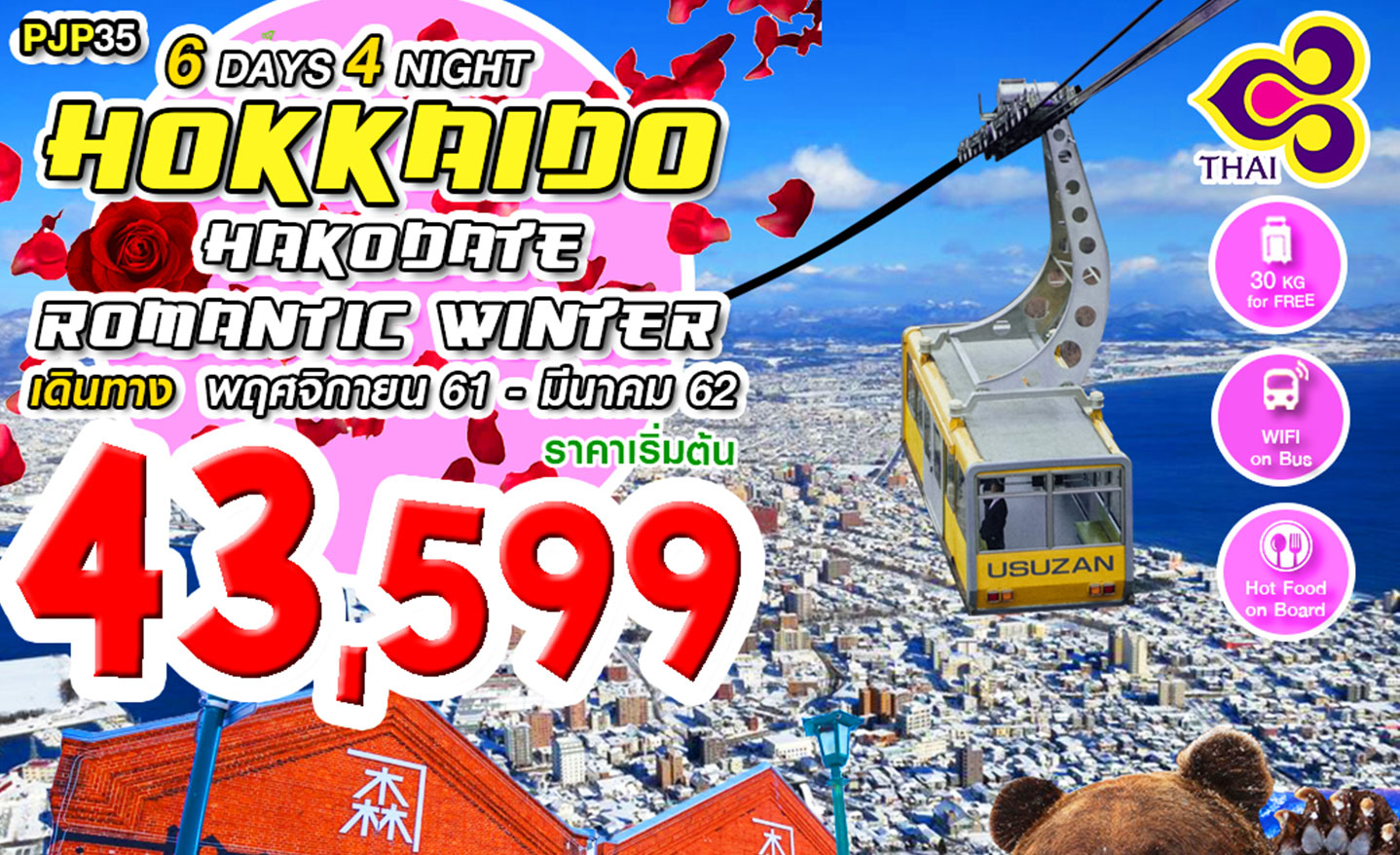 ทัวร์ญี่ปุ่น Hokkaido Hakodate Romantic Winter (พ.ย.61-มี.ค.62)