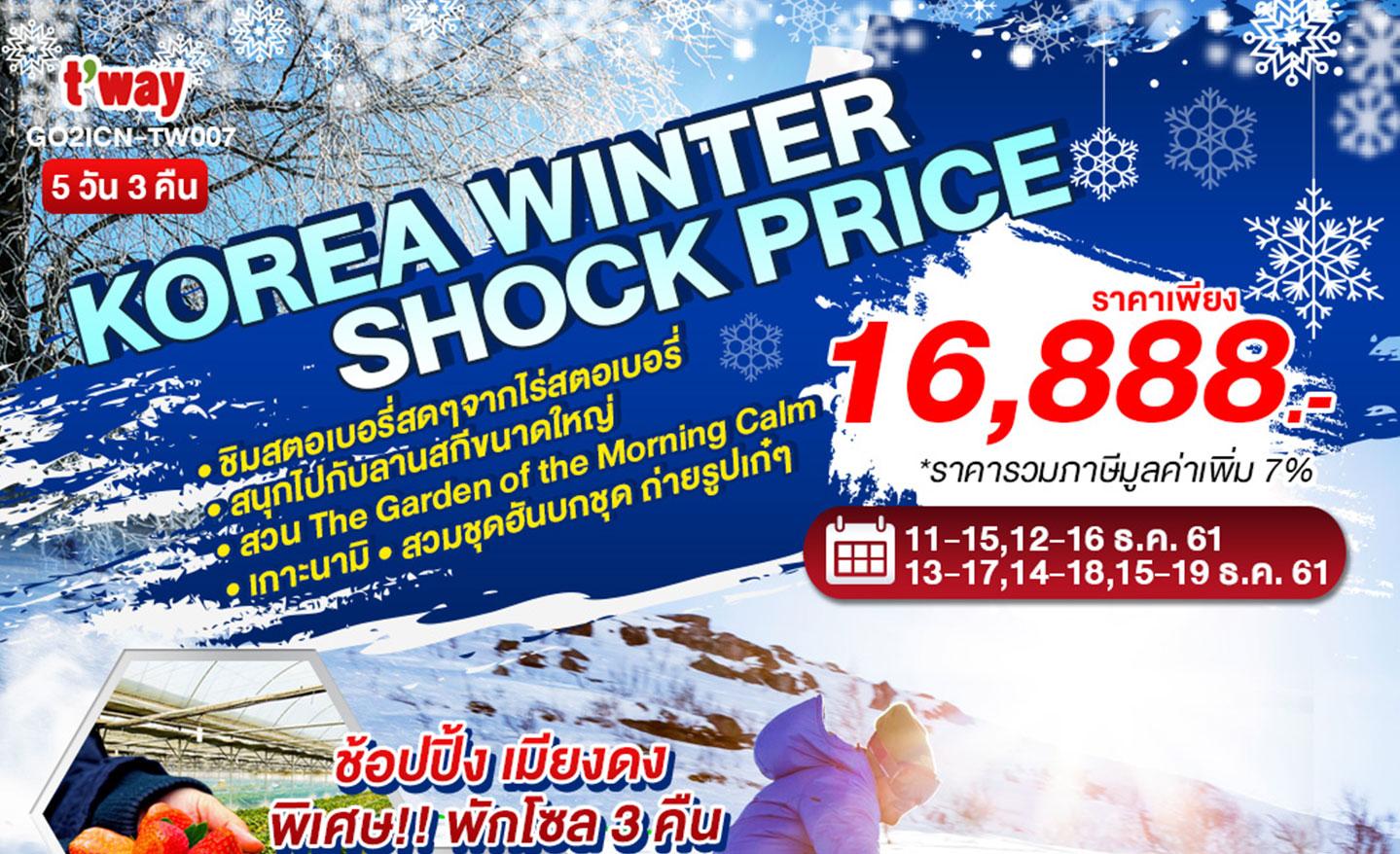 ทัวร์เกาหลี Winter Shock Price (ธ.ค.61)