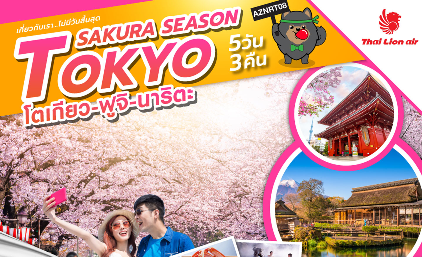 ทัวร์ญี่ปุ่น Sakura Season Tokyo (มี.ค.-เม.ย.62)