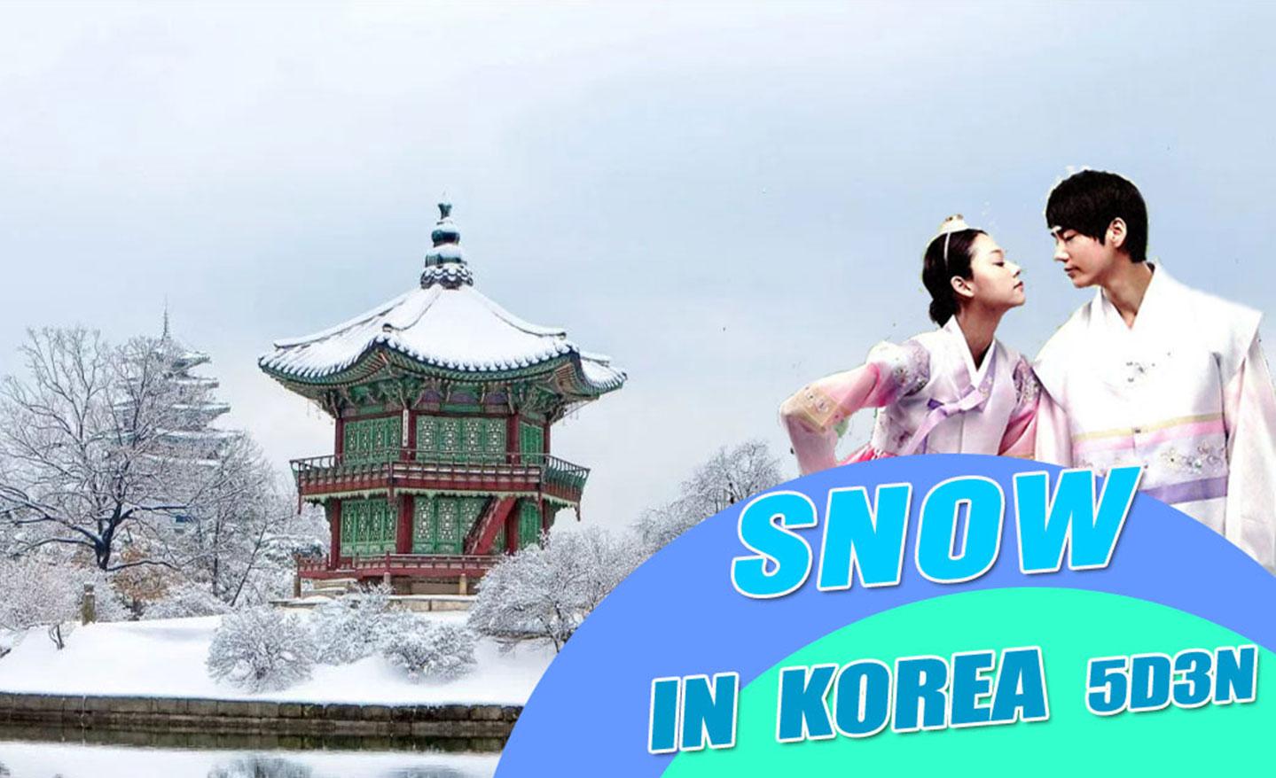 ทัวร์เกาหลี Snow in Korea FEB (ก.พ.62)