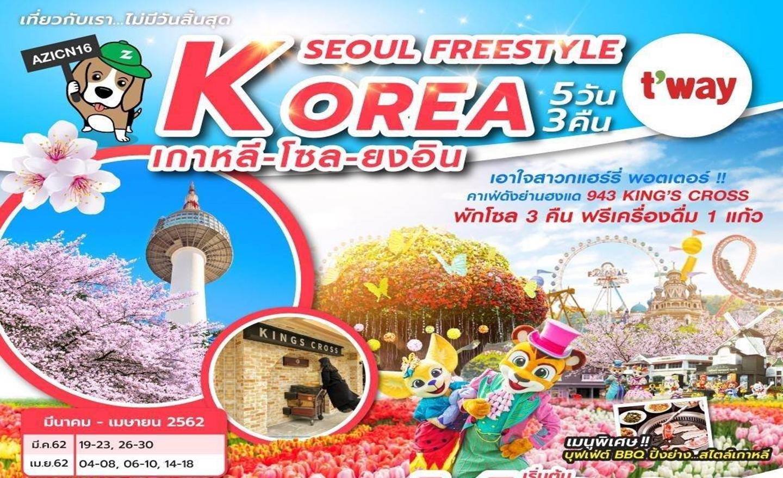 ทัวร์เกาหลี Korea Seoul Freestyle (มี.ค.-เม.ย.62)