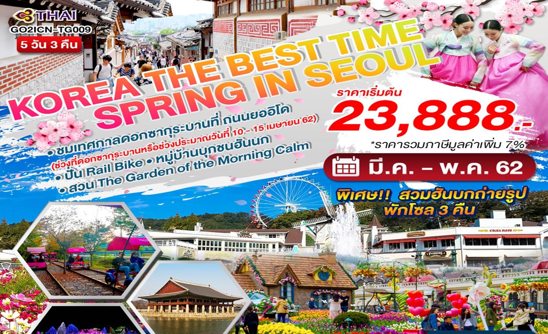 ทัวร์เกาหลี The Best Time Spring in Seoul (มี.ค.-พ.ค.62)