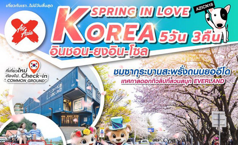 ทัวร์เกาหลี Korea Spring In Love (มี.ค.-เม.ย.62)