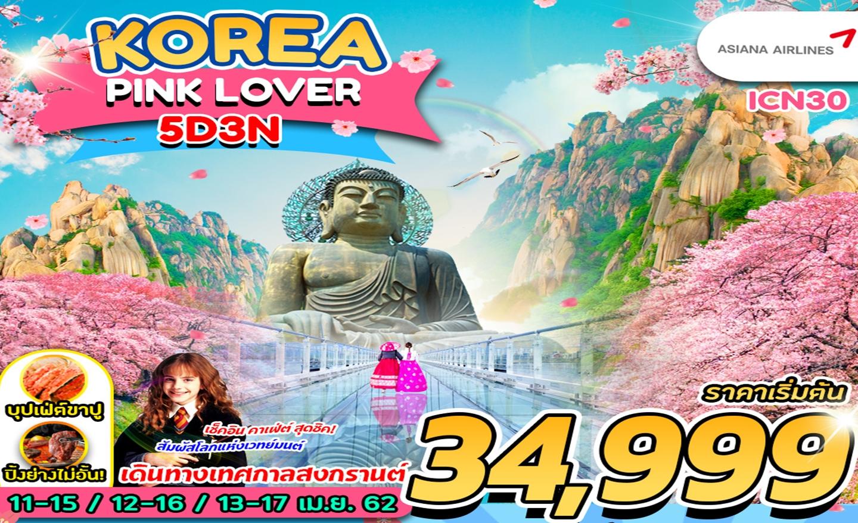 ทัวร์เกาหลี Korea Pink Lover (พีเรียดสงกรานต์62)