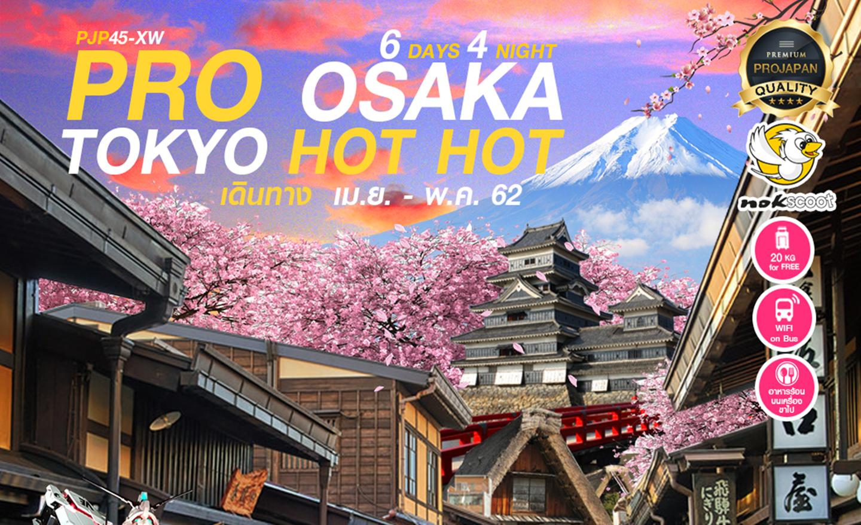 ทัวร์ญี่ปุ่น Pro Tokyo Osaka Hot Hot 6วัน4คืน (เม.ย.-พ.ค.62)