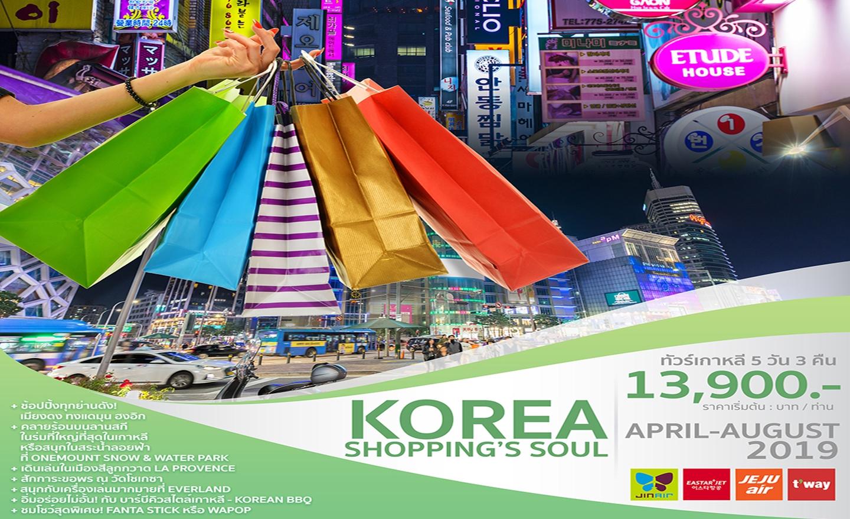 ทัวร์เกาหลี Korea Shopping's Soul (พ.ค.-ส.ค.62)