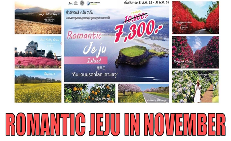 ทัวร์เกาหลี Romantic Jeju In November (พ.ย.62)