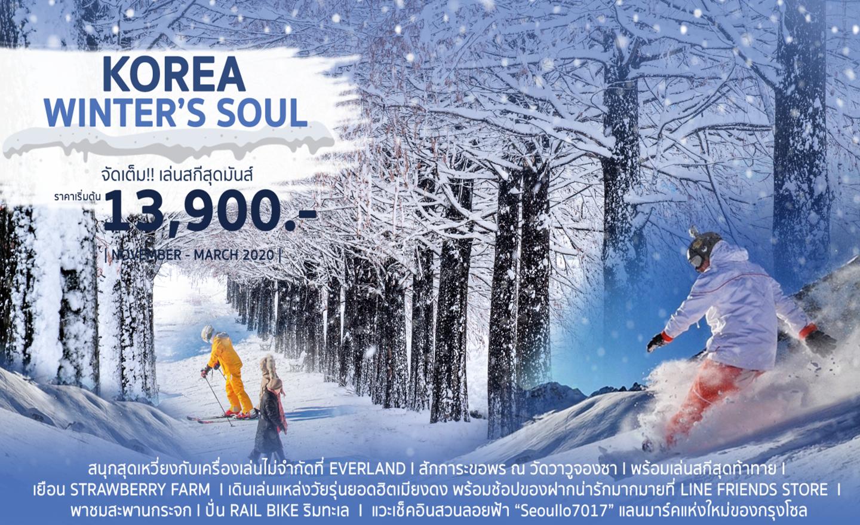 ทัวร์เกาหลี Korea Winter's Soul (พ.ย.62-มี.ค.63)