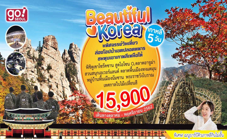 ทัวร์เกาหลี Beautiful Korea (ต.ค.-พ.ย.62)