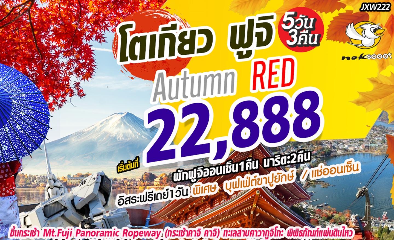 ทัวร์ญี่ปุ่น Autumn Red โตเกียว ฟูจิ 5D3N (ก.ย.-พ.ย.62)
