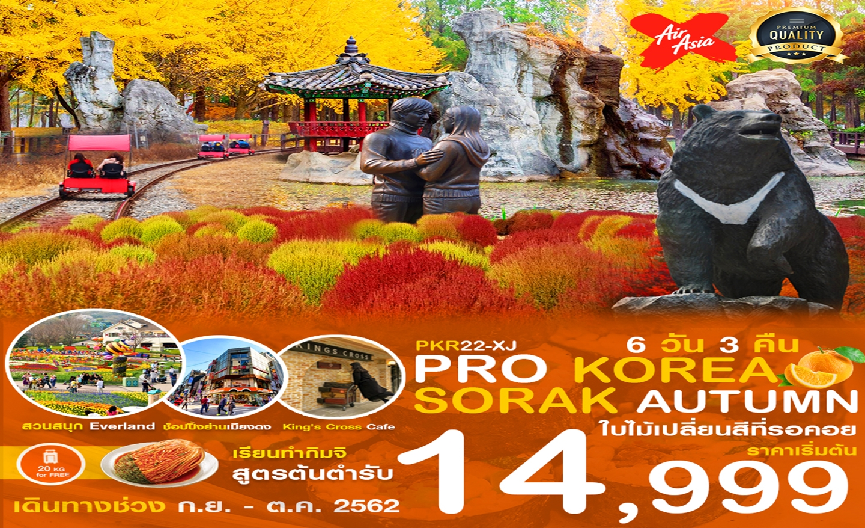 ทัวร์เกาหลี Korea Sorak Autumn ใบไม้เปลี่ยนสีที่รอคอย 6D3N (ต.ค.62)