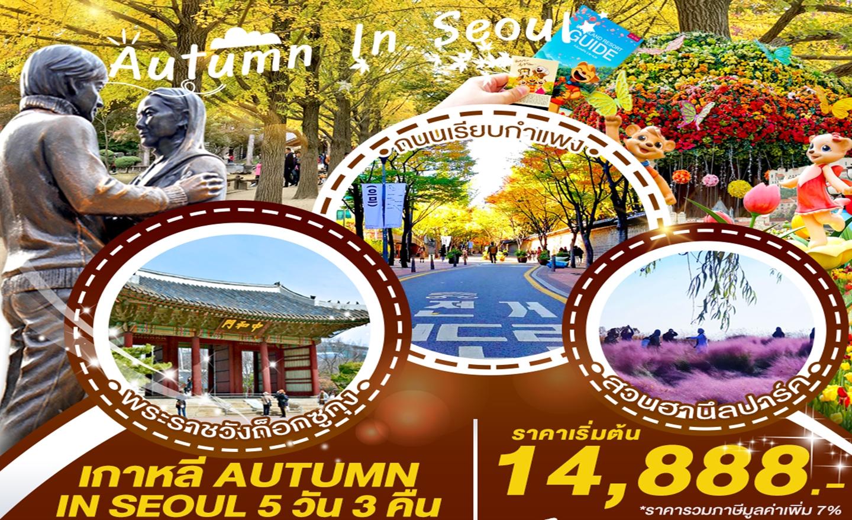 ทัวร์เกาหลี Autumn In Seoul (ต.ค.62)