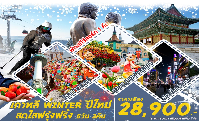 ทัวร์เกาหลี Winter ปีใหม่ สดใสฟรุ้งฟริ้ง (พีเรียดปีใหม่63)