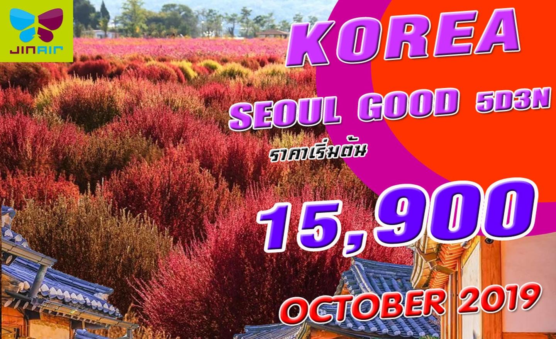 ทัวร์เกาหลี Korea Seoul Good (ต.ค.62)