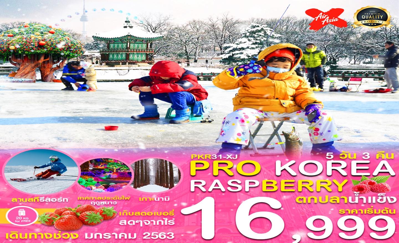 ทัวร์เกาหลี Pro Korea Raspberry ตกปลาน้ำแข็ง (ม.ค.63)