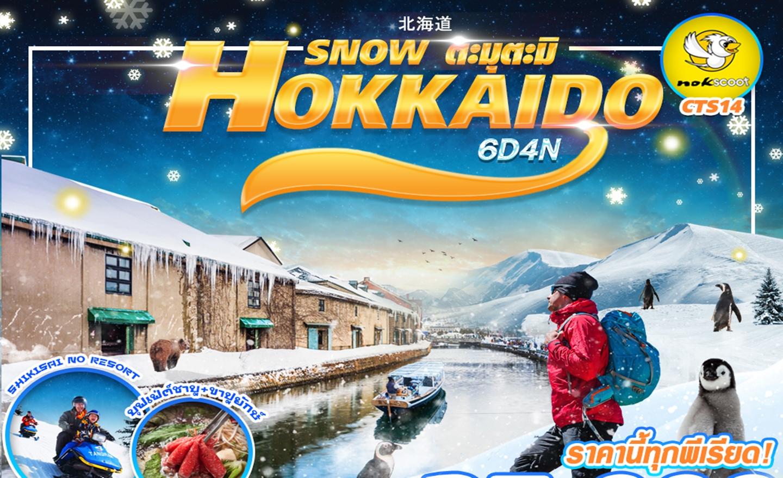 ทัวร์ญี่ปุ่น Hokkaido Snow ตะมุตะมิ 6D4N (มีอิสระฟรีเดย์) (4,11,18,25 ม.ค.63)