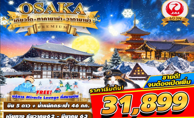 ทัวร์ญี่ปุ่น Osaka Premium เกียวโต ทาคายาม่า วากายาม่า (ธ.ค.-มี.ค.63)
