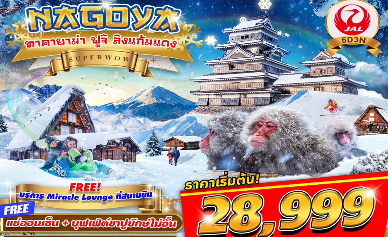 ทัวร์ญี่ปุ่น Nagoya ทาคายาม่า ฟูจิ ลิงออนเซน Super Wow 5D3N (ธ.ค.62-มี.ค.63)