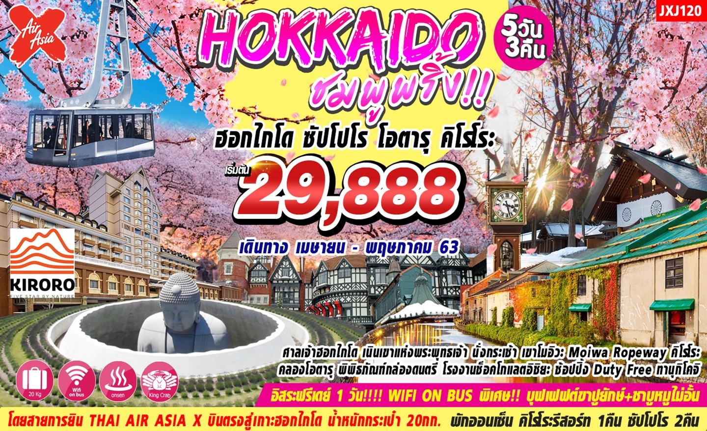 ทัวร์ญี่ปุ่น ฮอกไกโด ชมพูพริ้ง!! Sapporo Otaru Kiroro 5D3N (เม.ย.-พ.ค.63)