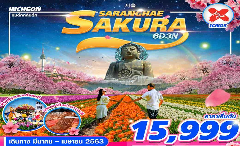 ทัวร์เกาหลี Korea Sakura Saranghae 6D3N (มี.ค.-เม.ย.63)