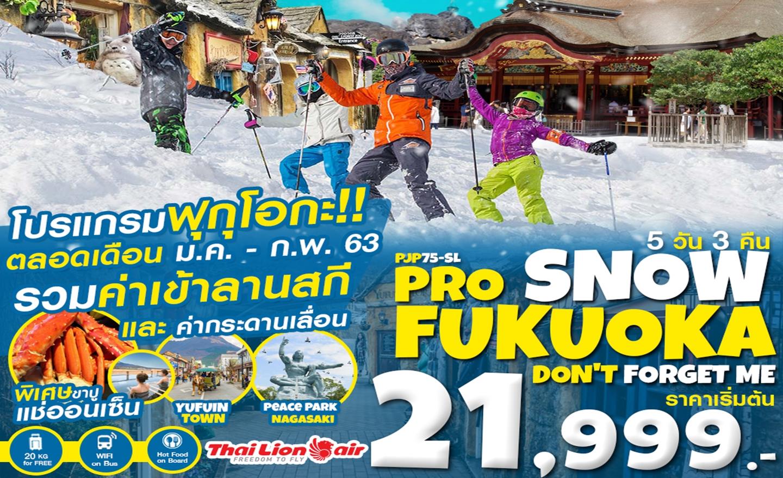 ทัวร์ญี่ปุ่น Pro Snow Fukuoka Don't Forget Me 5D3N (ม.ค.-ก.พ.63)