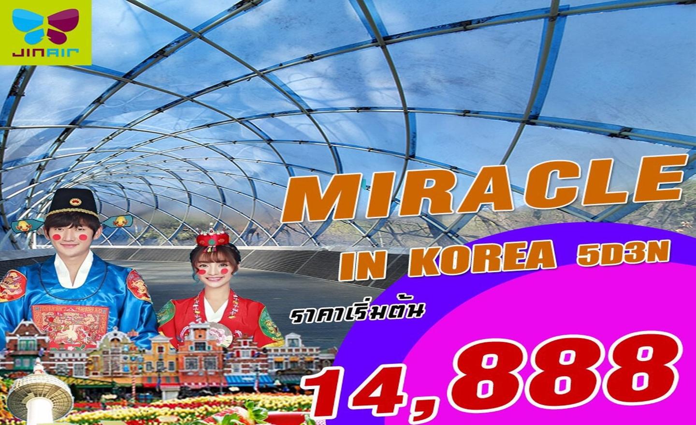 ทัวร์เกาหลี Miracle Korea (มี.ค.63)