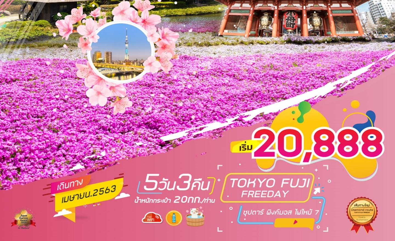 ทัวร์ญี่ปุ่น Tokyo Fuji Freeday 5D3N ซุปตาร์ พิงค์มอส ไฟไหม้ 7 (เม.ย.63)