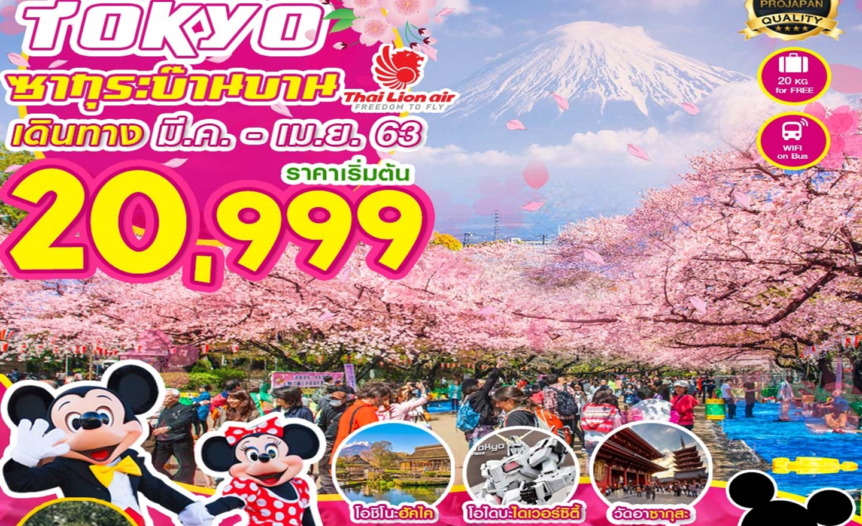 ทัวร์ญี่ปุ่น Pro Tokyo ซากุระบ๊านบาน FREE DAY 5D 3N (มี.ค.-เม.ย.63)