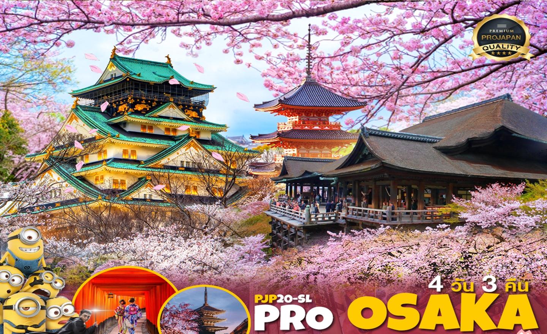ทัวร์ญี่ปุ่น Pro ชมพูว๊าว Osaka Kyoto Freeday 4D3N (มี.ค.-เม.ย.63)