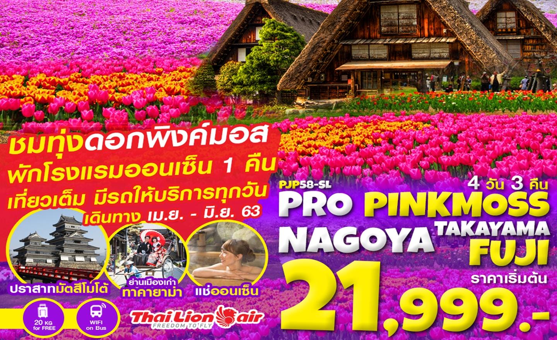 ทัวร์ญี่ปุ่น Pro Pinkmoss Nagoya Takayama Fuji 4D3N (เม.ย.-มิ.ย.63)