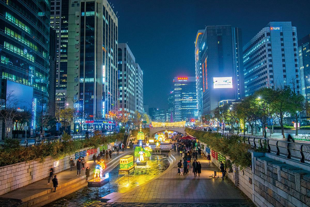 คลองชองกเยชอน : Cheonggyecheon Stream