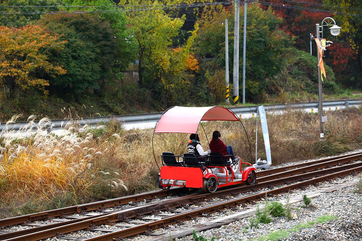 Samcheok Ocean Railbike : เรลไบค์ เลียบทะเล ซัมช็อก